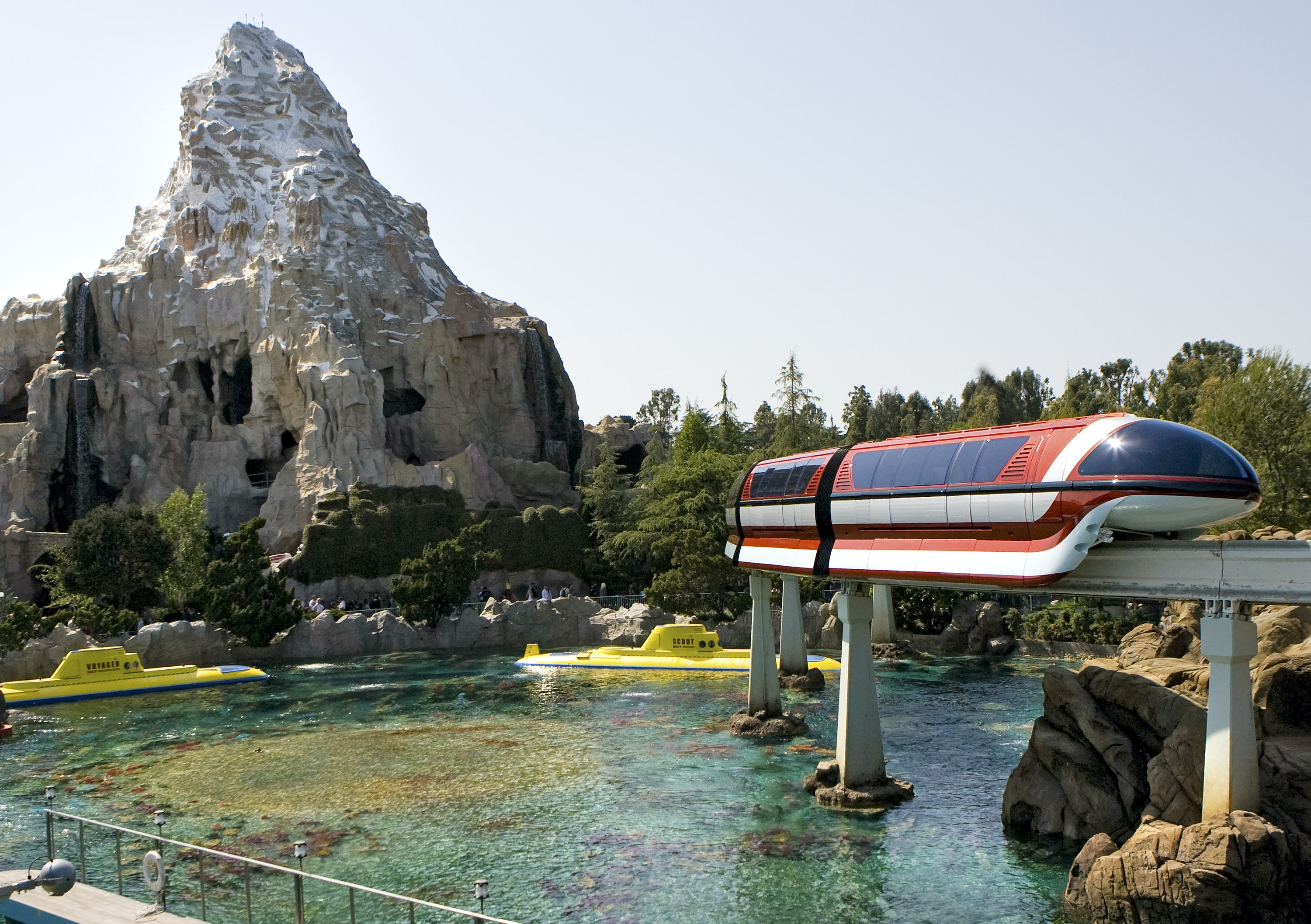 Hop on the Matterhorn Bobsleds at sunset or during the fireworks for prime views.