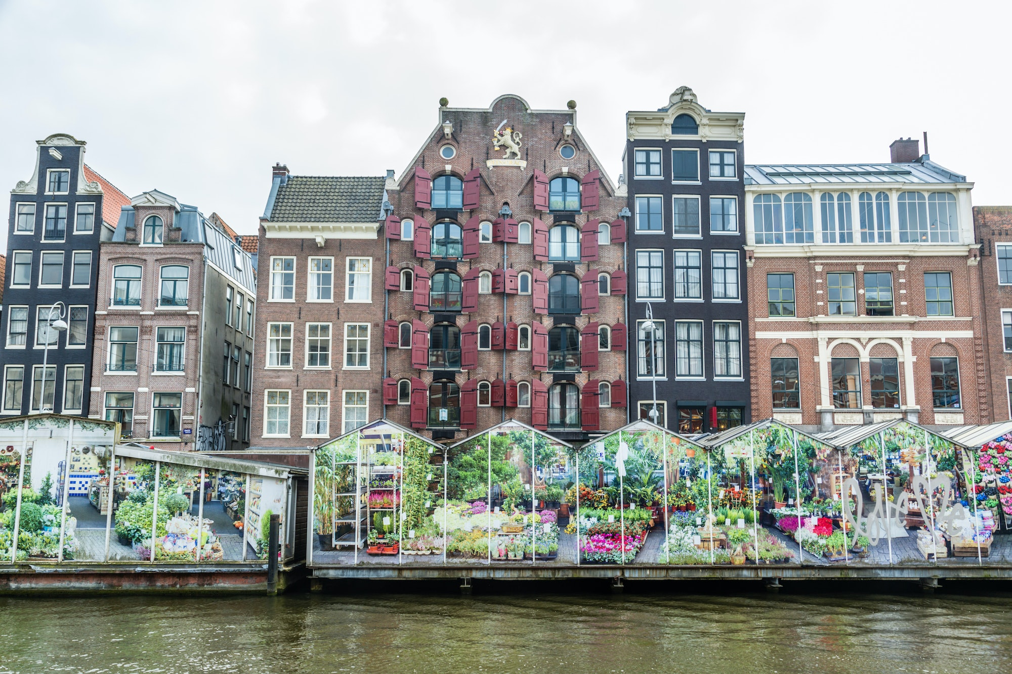 Founded in 1862, Bloemenmarkt is the world's only floating flower market.