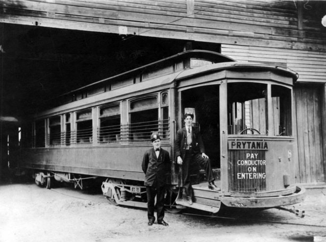 New Orleans street car in 1907