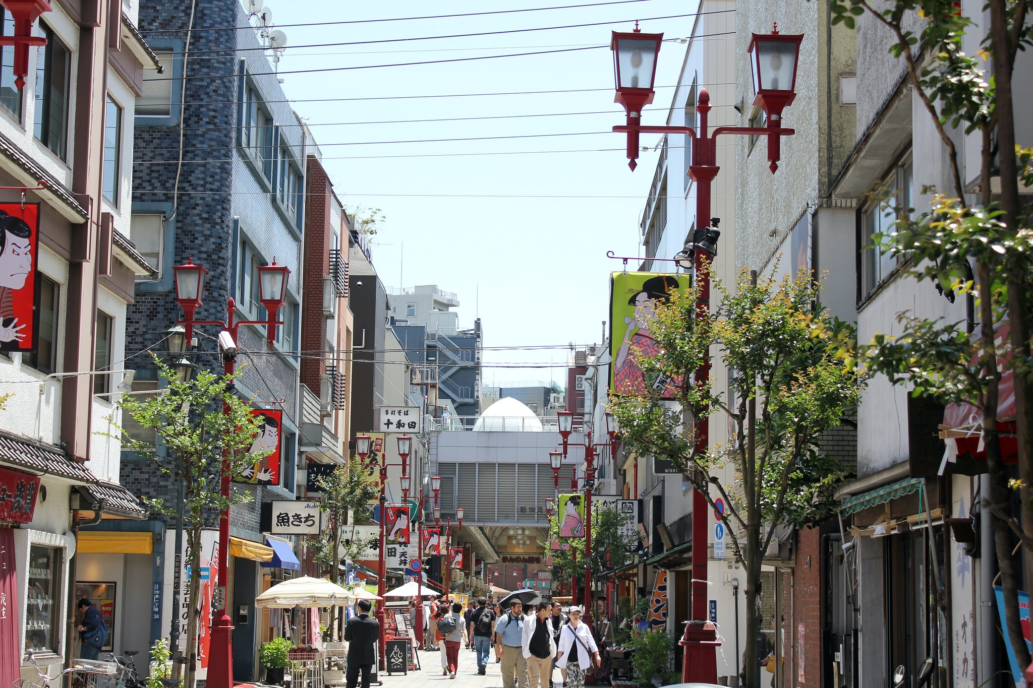 The Asakusa neighborhood.