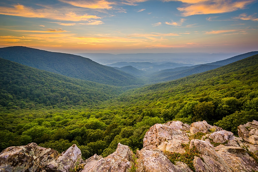 More than 500 miles of trails run through Shenandoah National Park.