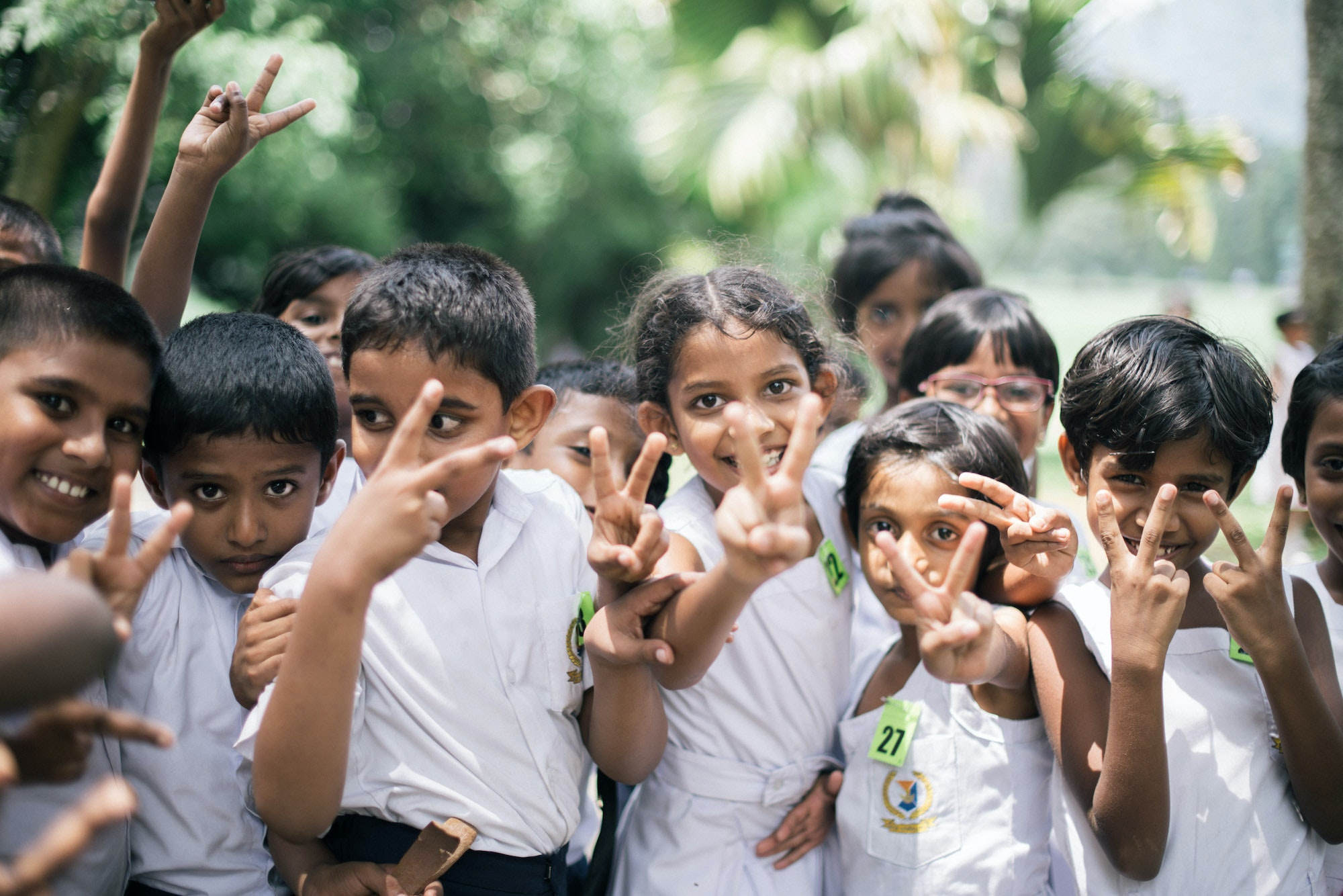 """""""These children in Kandy were so welcoming. They posed for this shot after we played a game of tag,"""" Rudd says."""