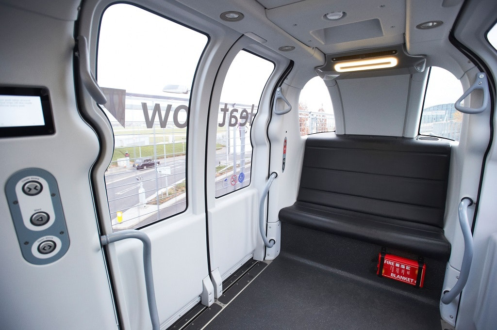 Heathrow's pods can accommodate six people and their luggage.
