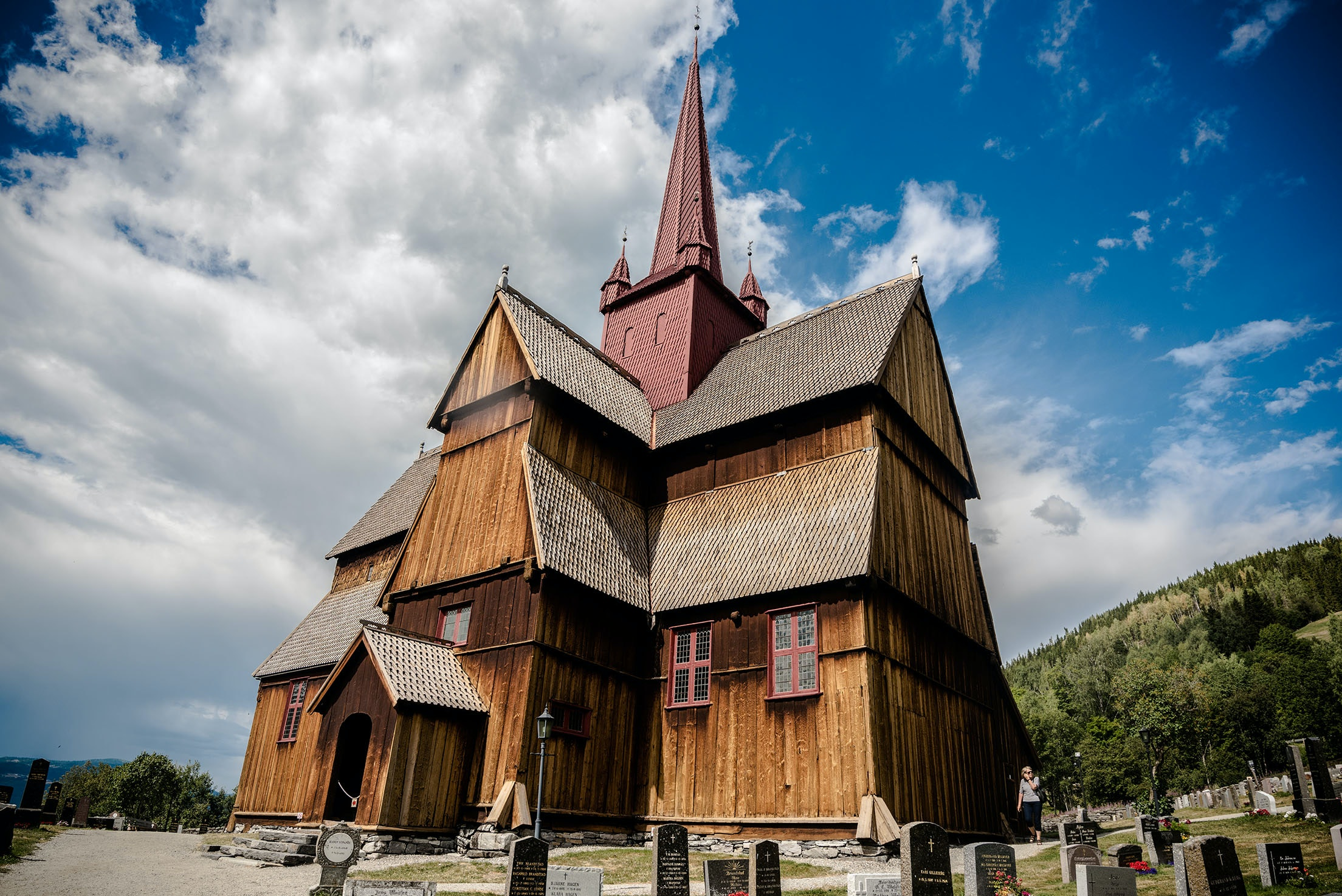 At the time of their construction in the Middle Ages, distinct, wooden stave churches were some of the most elaborate and technologically advanced structures in the region.