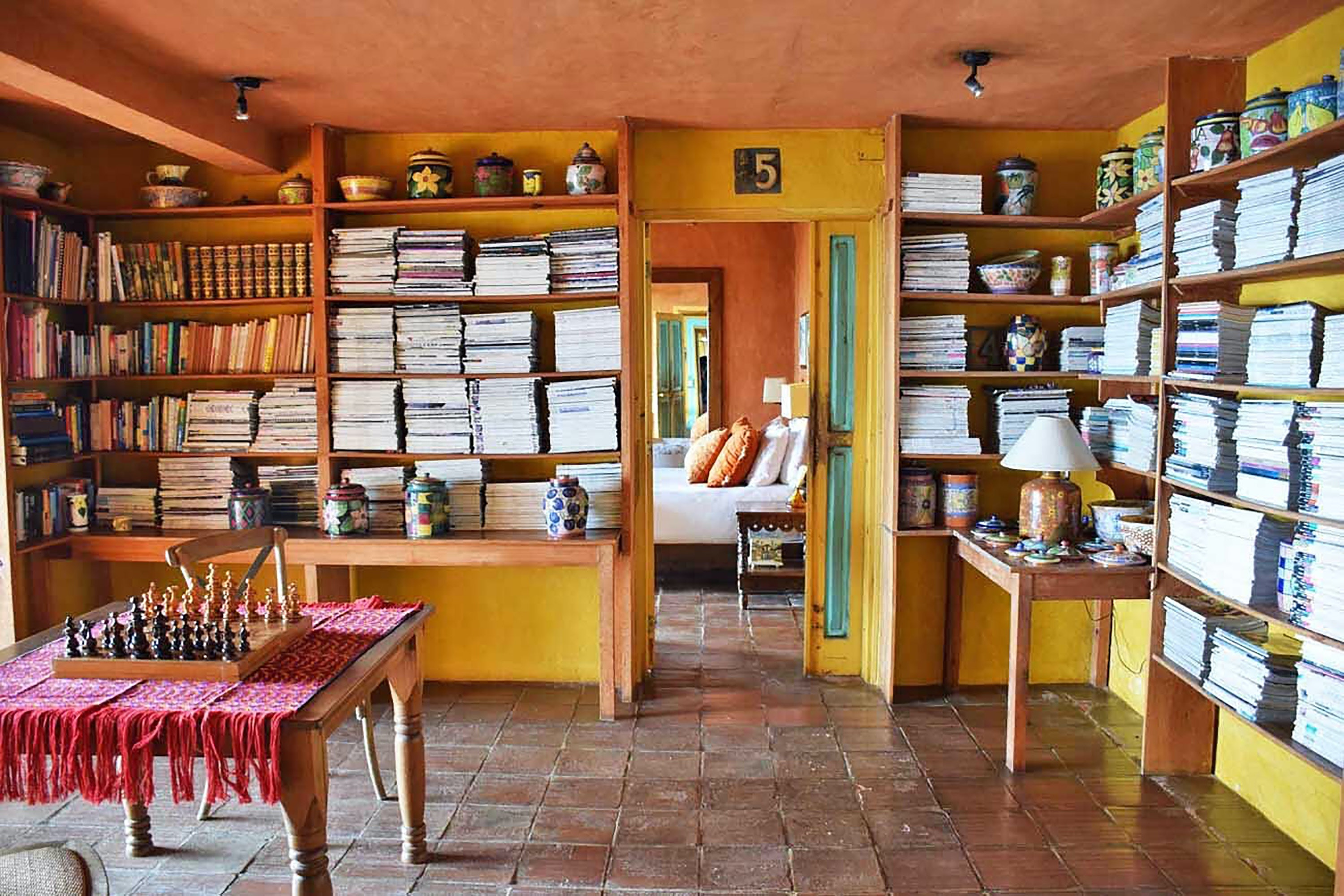 The library at Casa Palopó in Guatemala is just as much a cultural experience as it is a literary one.