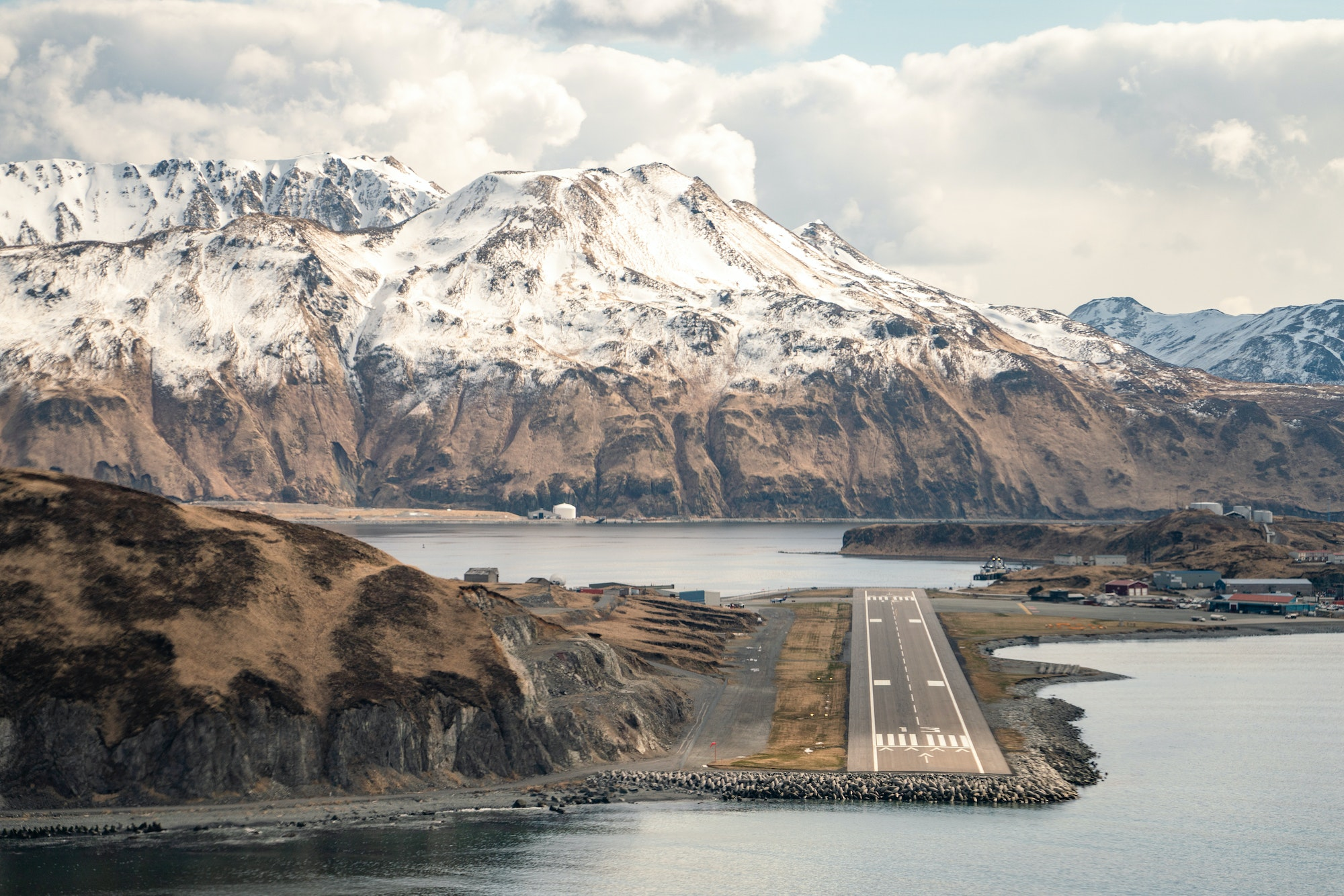 """Native Aleut communities have occupied the islands for some 8,000 years. """"Today, Dutch Harbor is one of the few islands in the Aleutian chain with yearly inhabitants,"""" Burkard explains."""