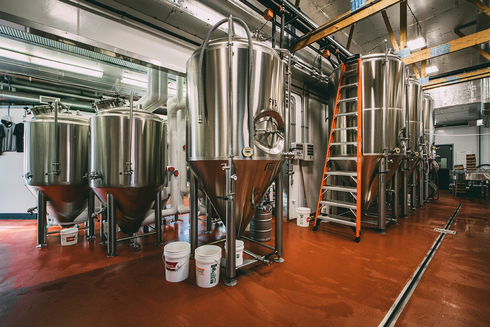 Frost Beer Works, outside of Burlington, specializes in pale ales like the Plush IPA and the Really Pale Ale.