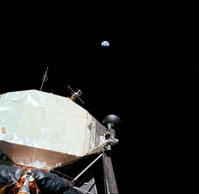 """Taschen's special 50th anniversary release of """"Moonfire: The Epic Journey of Apollo 11"""" features images taken in outer space by the """"Apollo 11"""" astronauts during the historic July 1969 mission."""