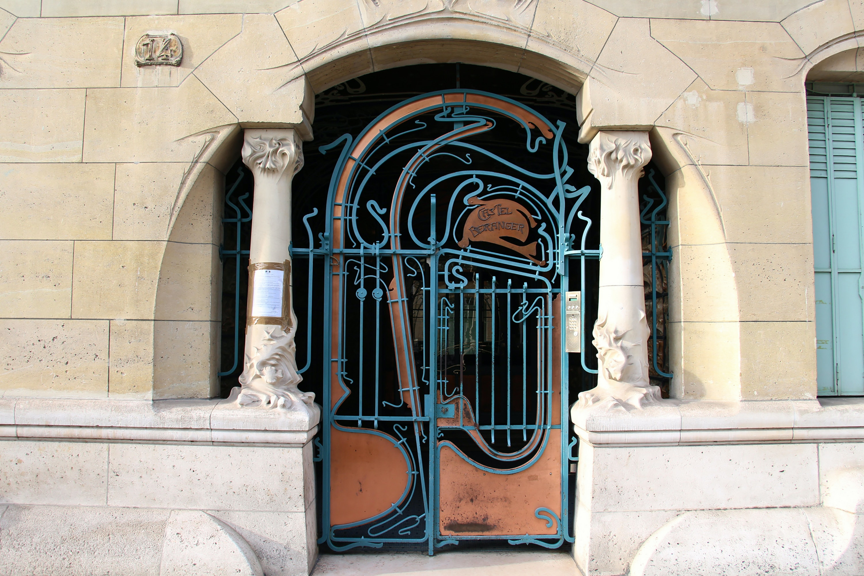 The 16th district in Paris is replete with art nouveau architecture, including the Hector Guimard–designed Castel Béranger.