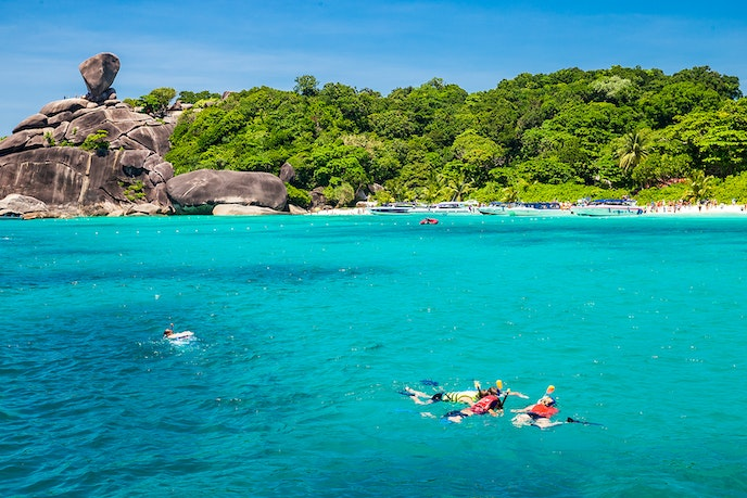 The 11-isle archipelago of the Similan Islands is known for some of the world's best diving.