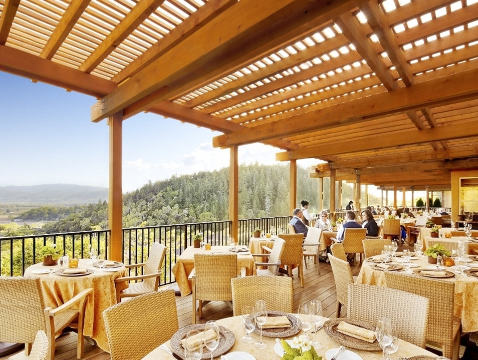 At Auberge du Soleil in Rutherford, enjoy a world-class meal in a setting that overlooks the valley.