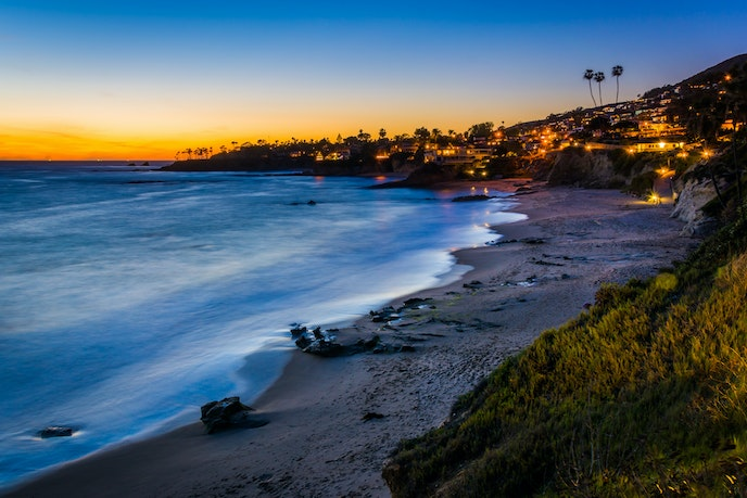 Laguna Beach at sunset is worth the traffic and parking trials.