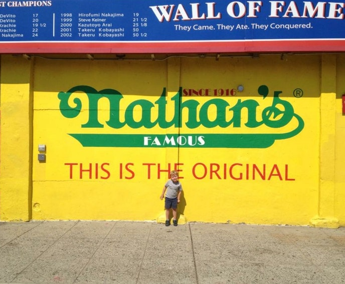 Hot dogs, fries, and lemonade will never go out of style, all of which are staples at Nathan's Famous in Coney Island.