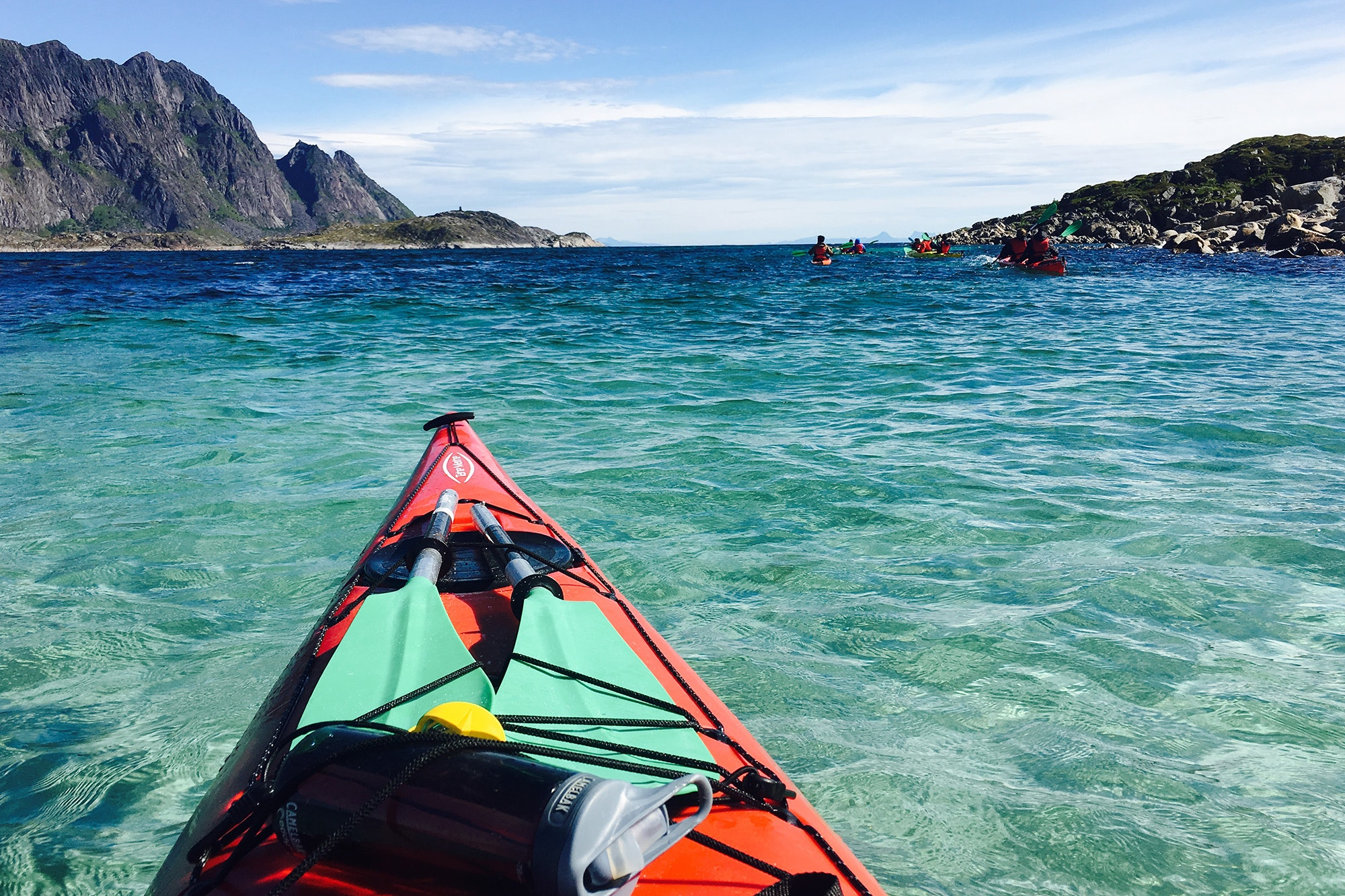 Kayaking is included in the three-day glamping program.