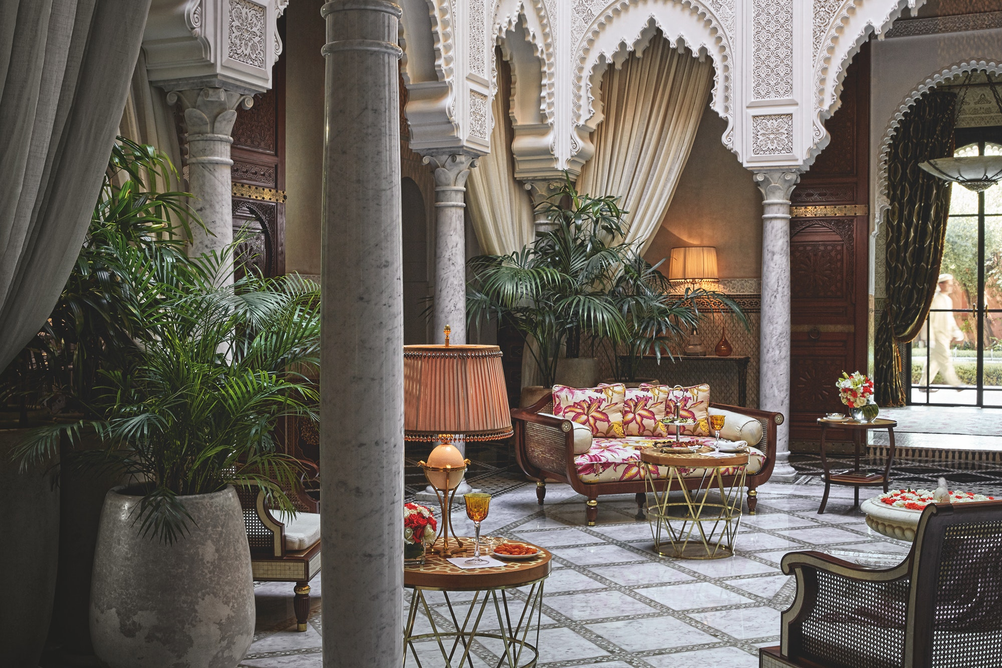 Each room at the luxury Royal Mansour is an individual riad complete with courtyard.