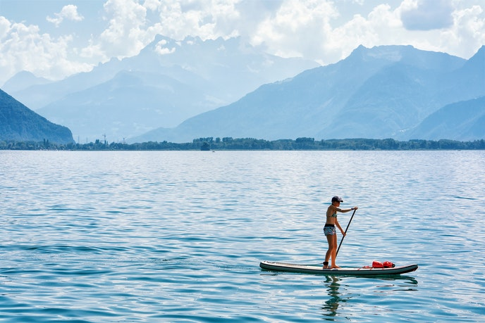 Lake lounging is a must during summertime in the Alps.