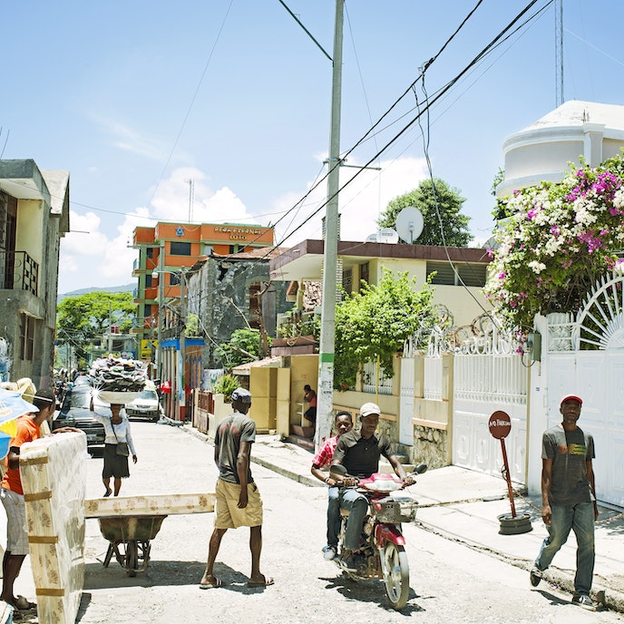 The streets of Jacmel