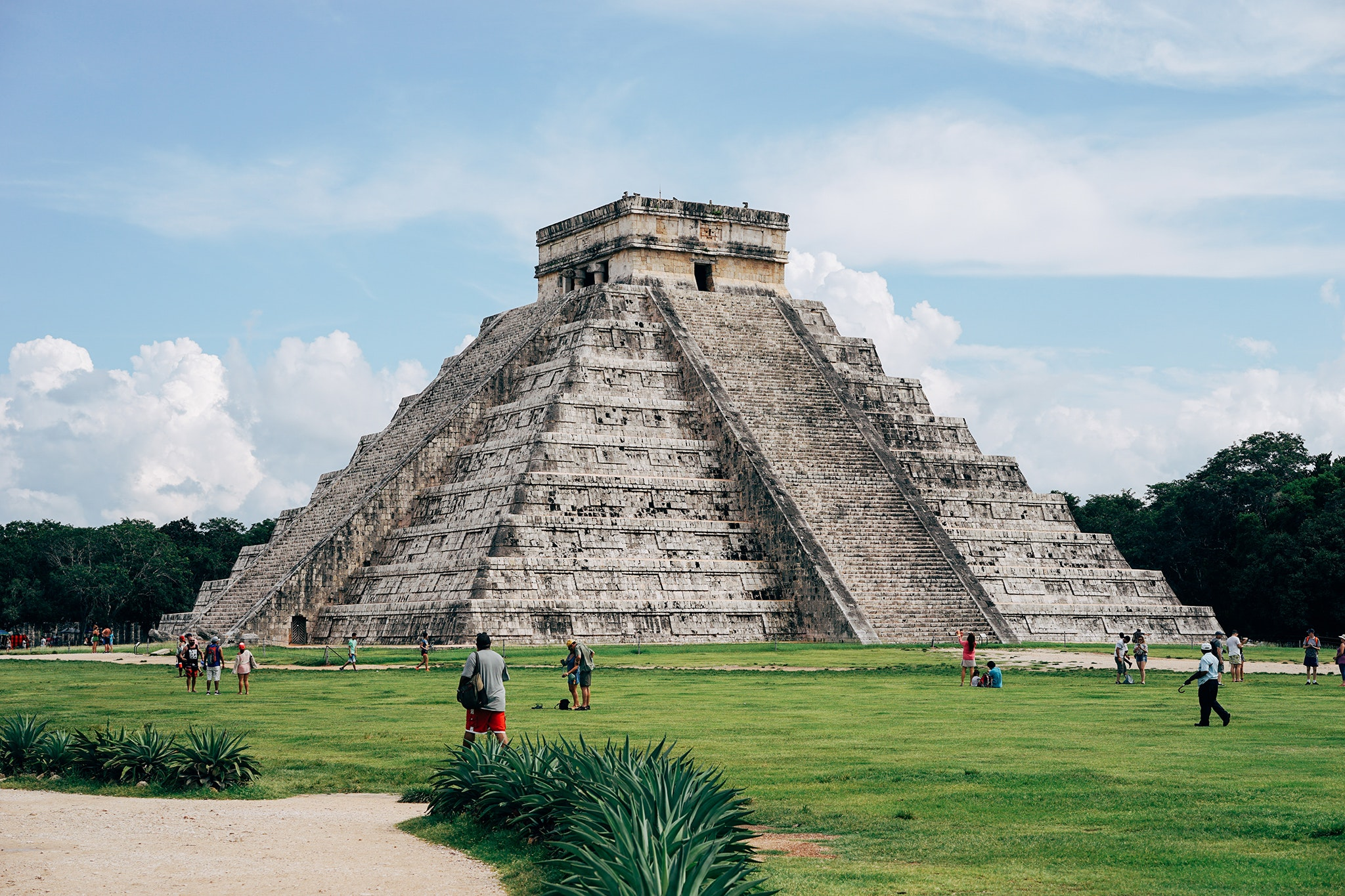 Chichén Itzá is located in close proximity to two cenotes (deep, limestone sinkholes that expose groundwater).