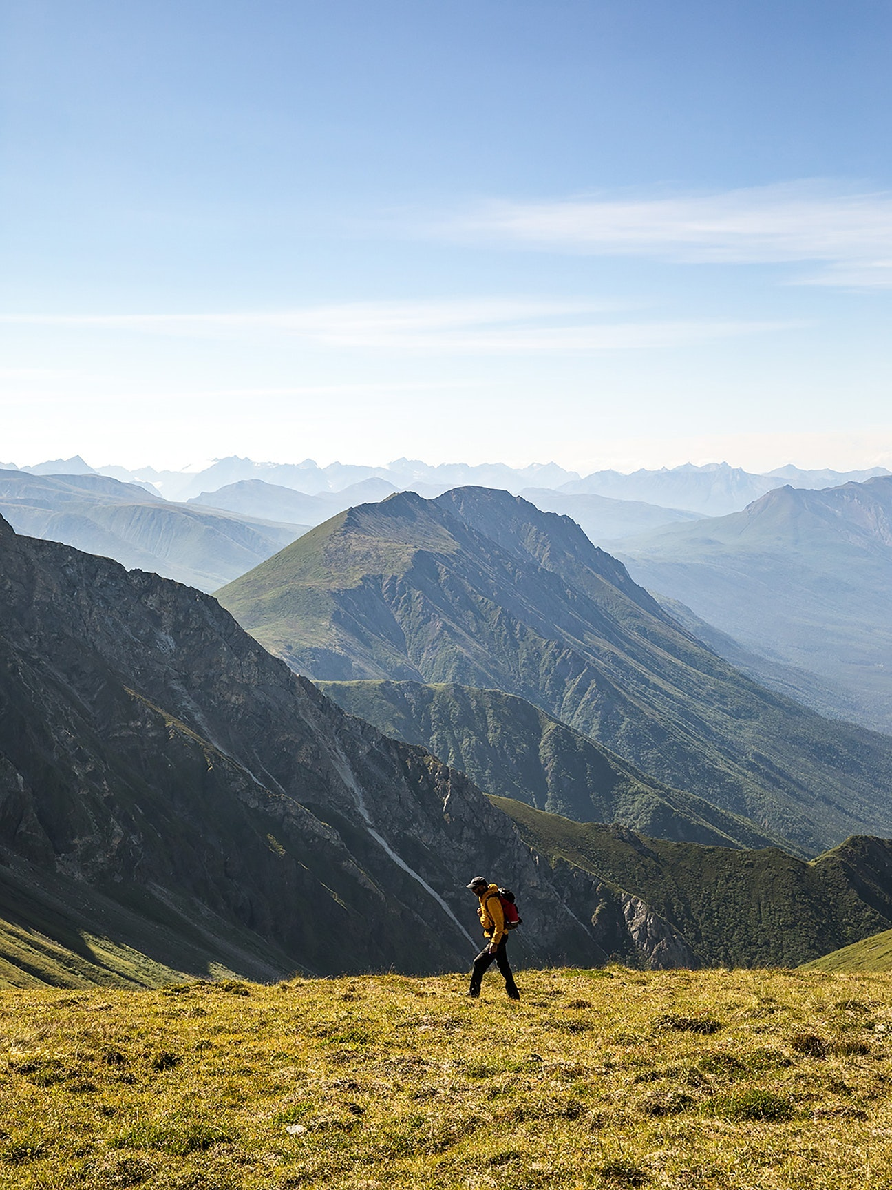 Opportunities for backpacking and day hiking abound in Alaska.
