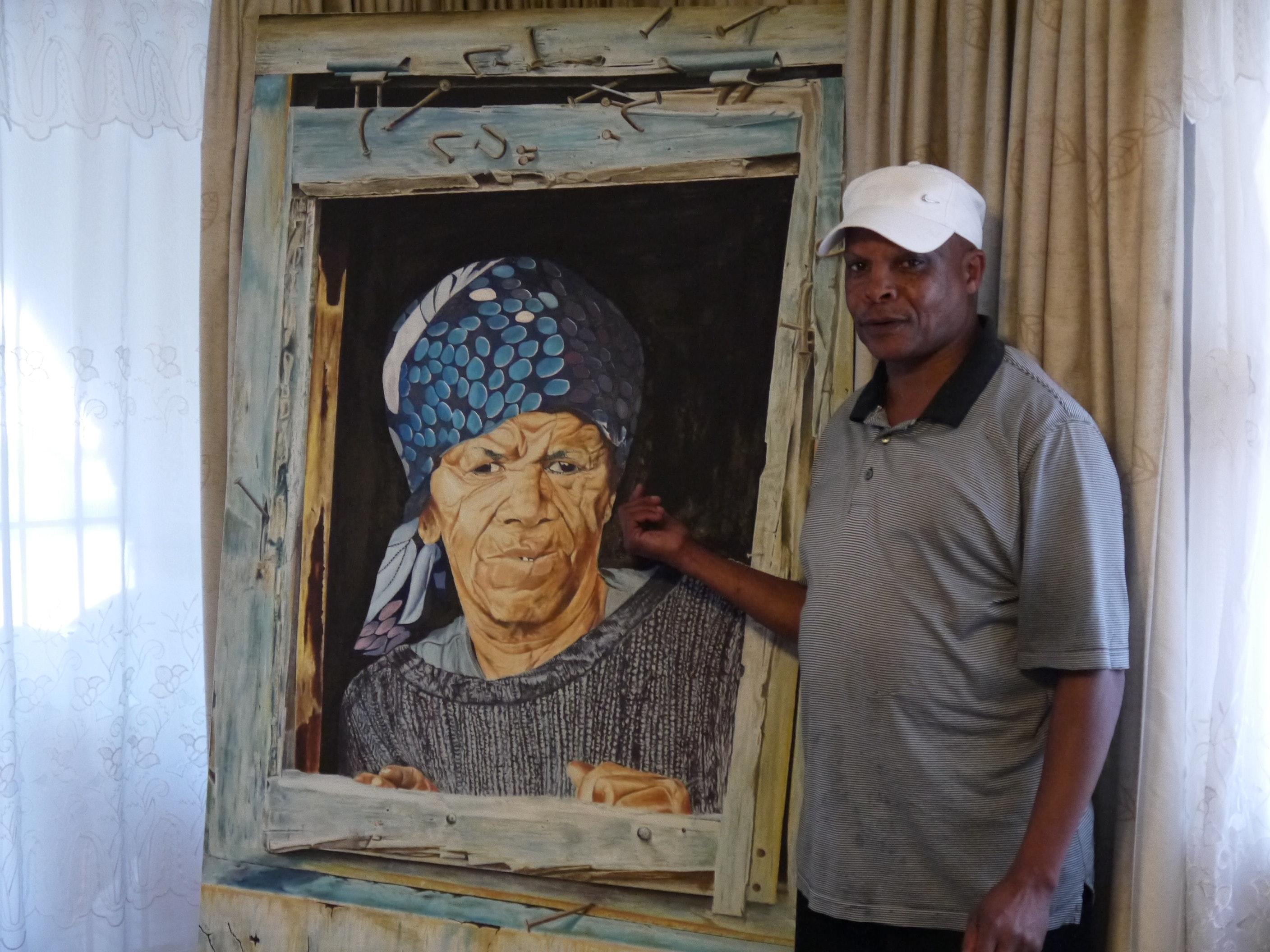 Velile Soha showcases his work in his own home on the tour.