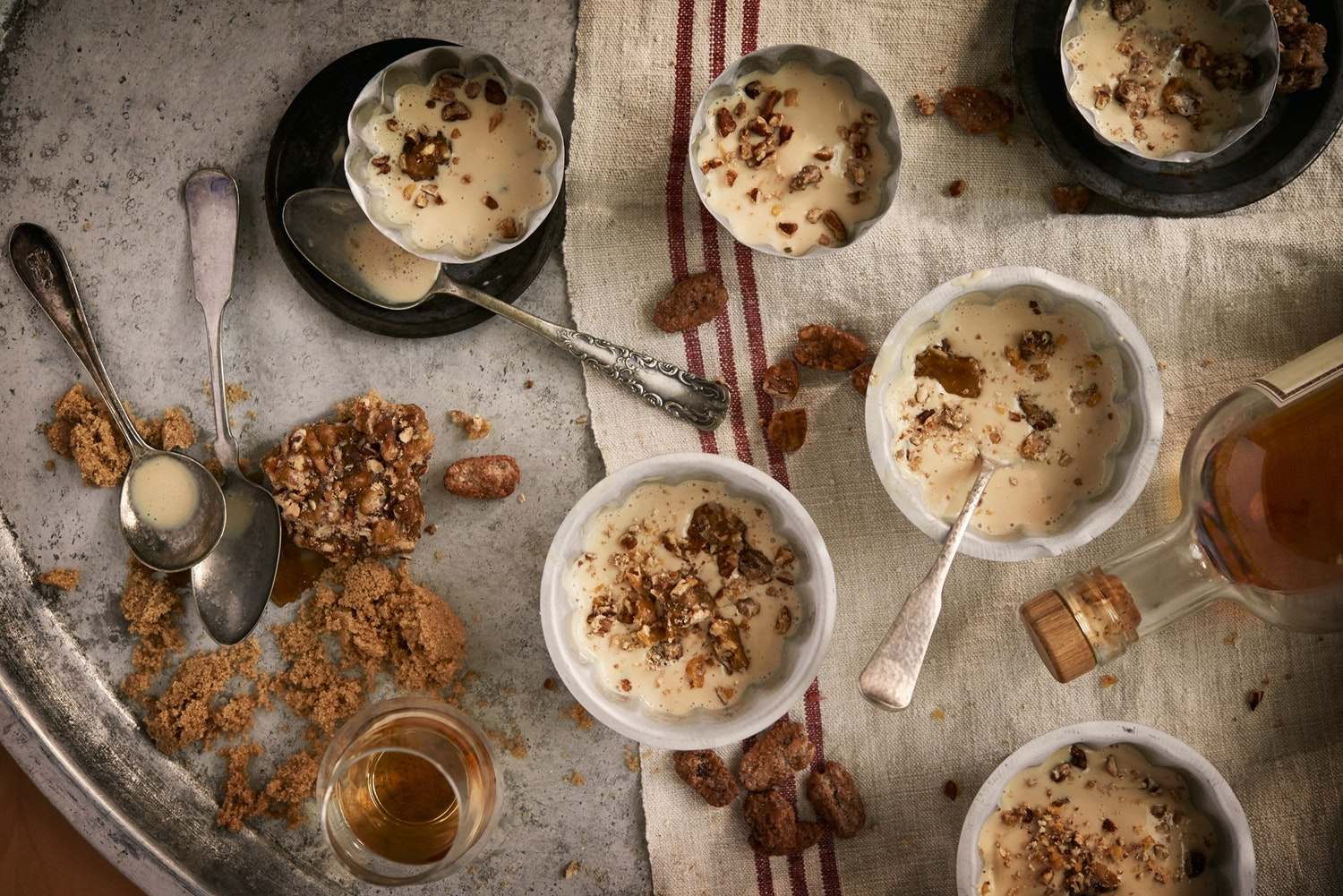 Clamentine's maple bourbon ice cream with salted candied pecans