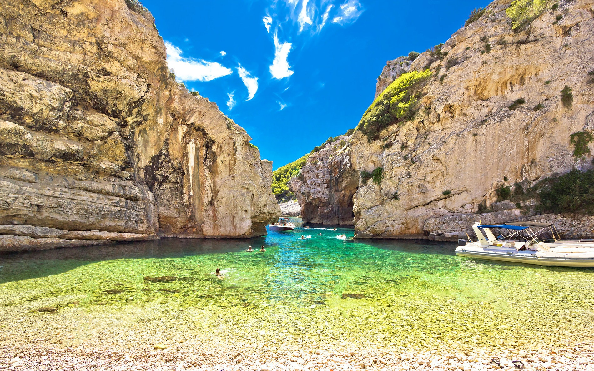 "Stiniva, on Vis island, recently hit the big screen as the setting for ""Mamma Mia 2."""