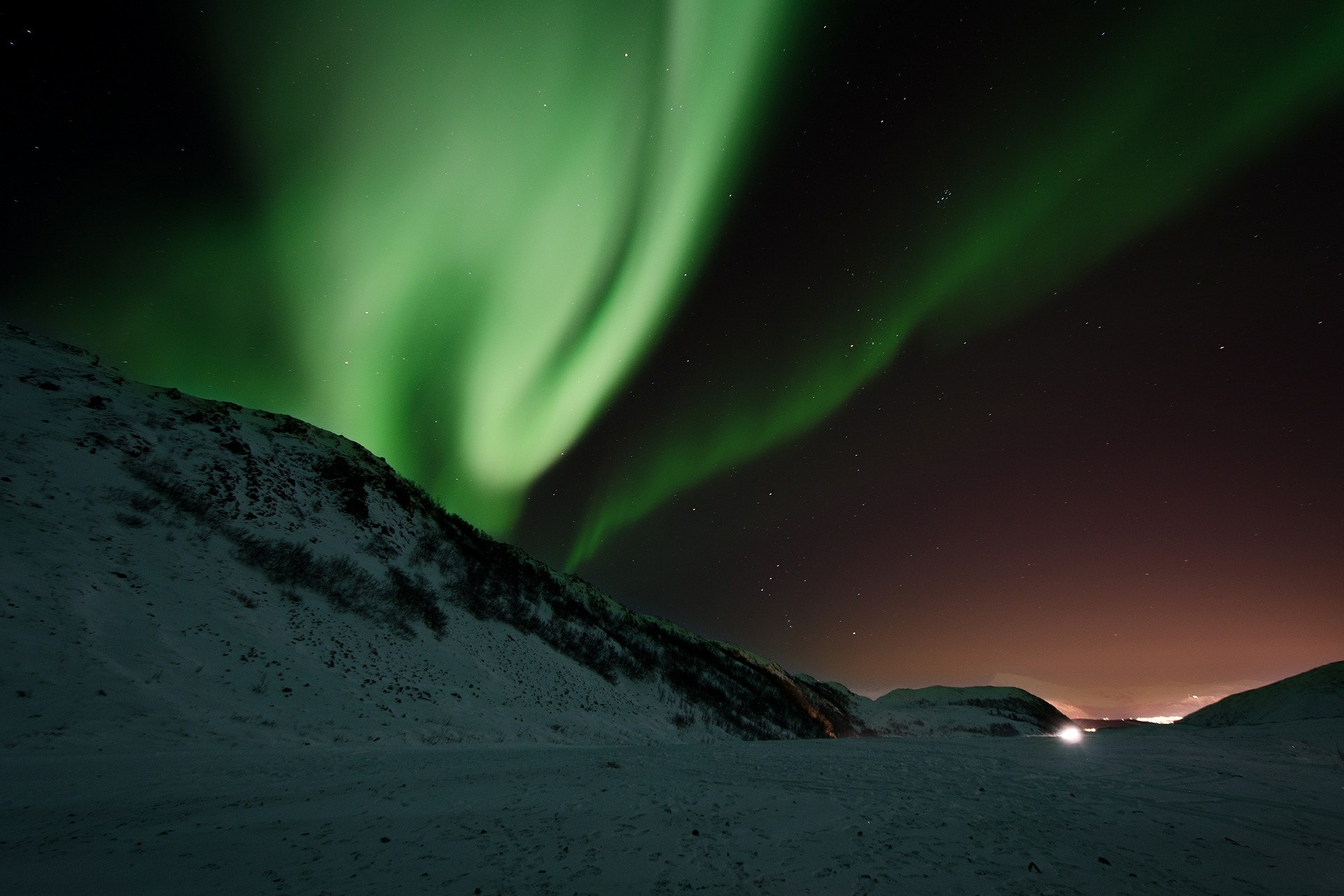 The northern lights from Tromsø, Norway.