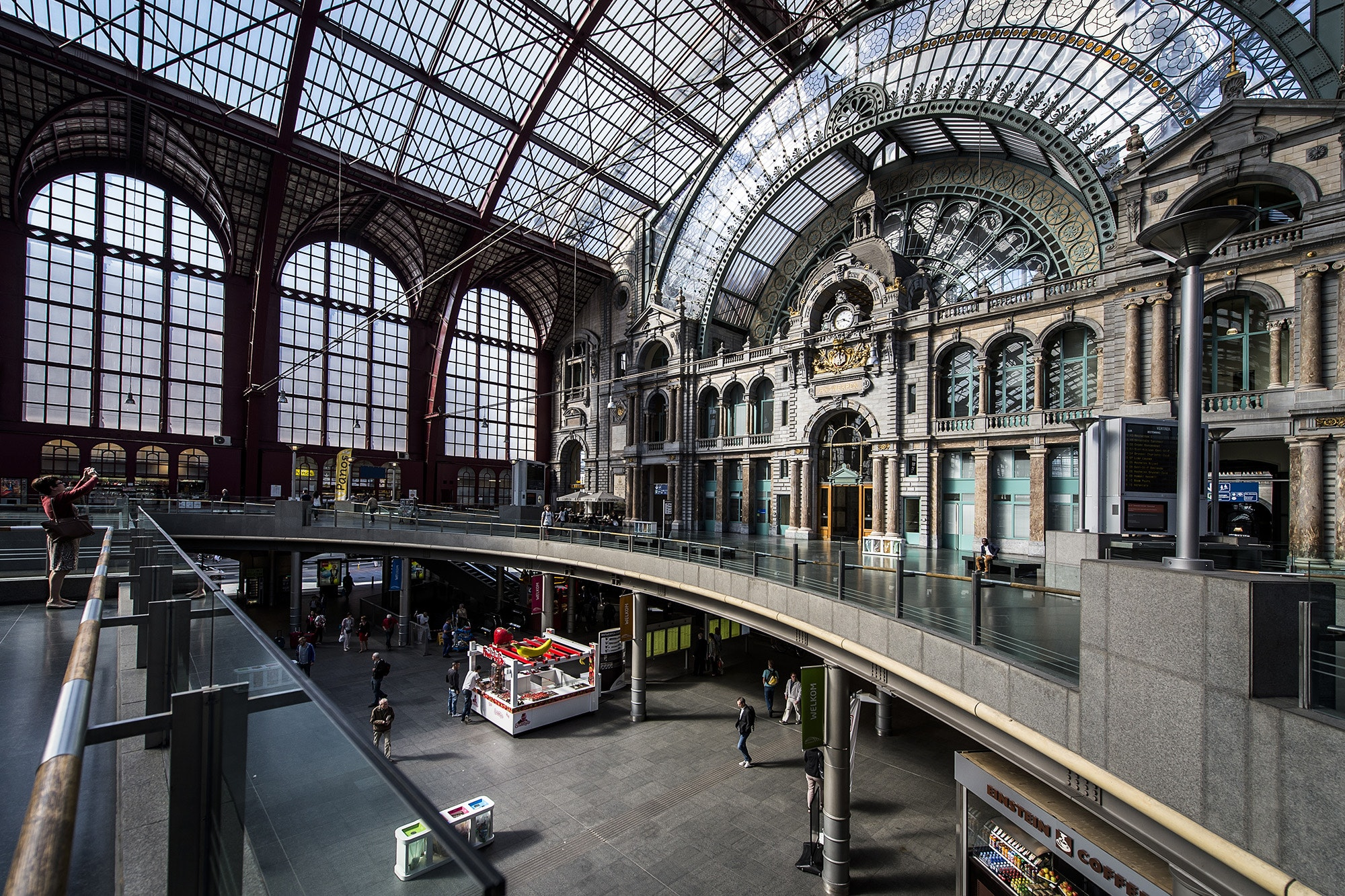 The light-filled Antwerpen-Centraal feels more like a place of worship than a train station.