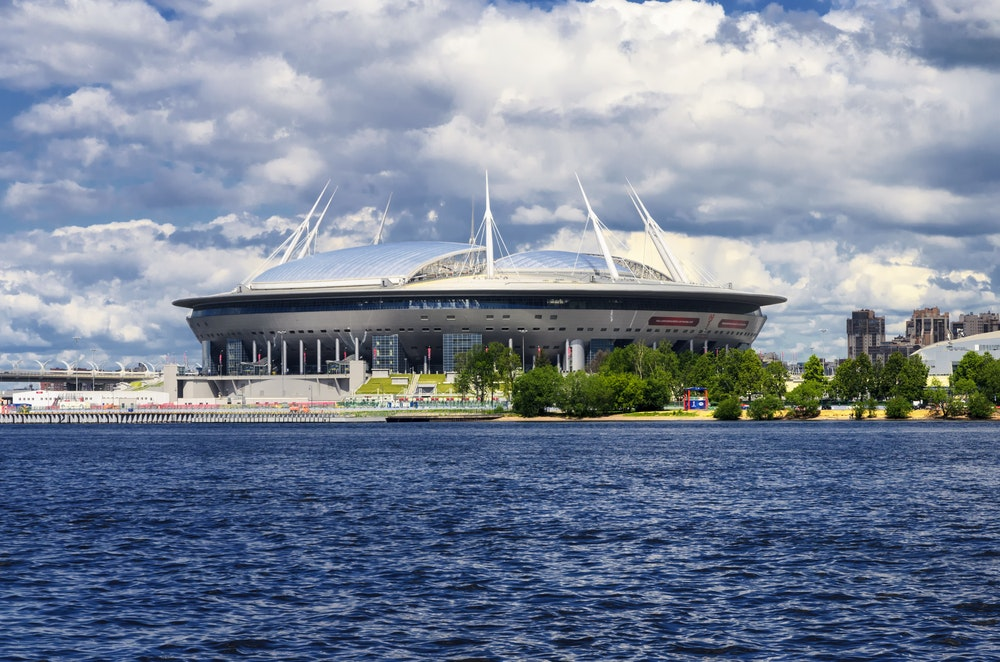 It cost roughly $1.1 billion to build the super-modern St. Petersburg Stadium, where World Cup games will be held.