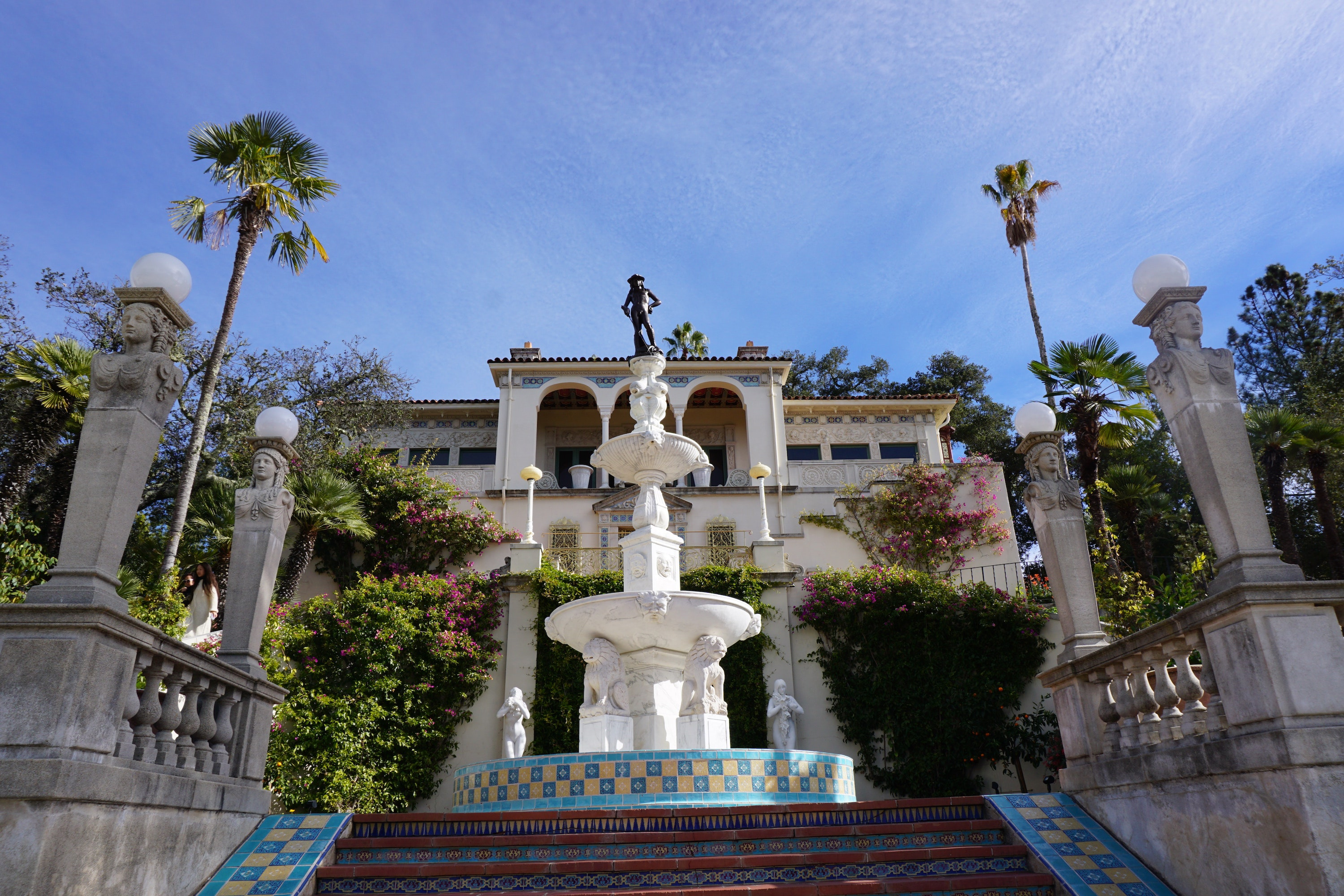 The entrance to Hearst Castle