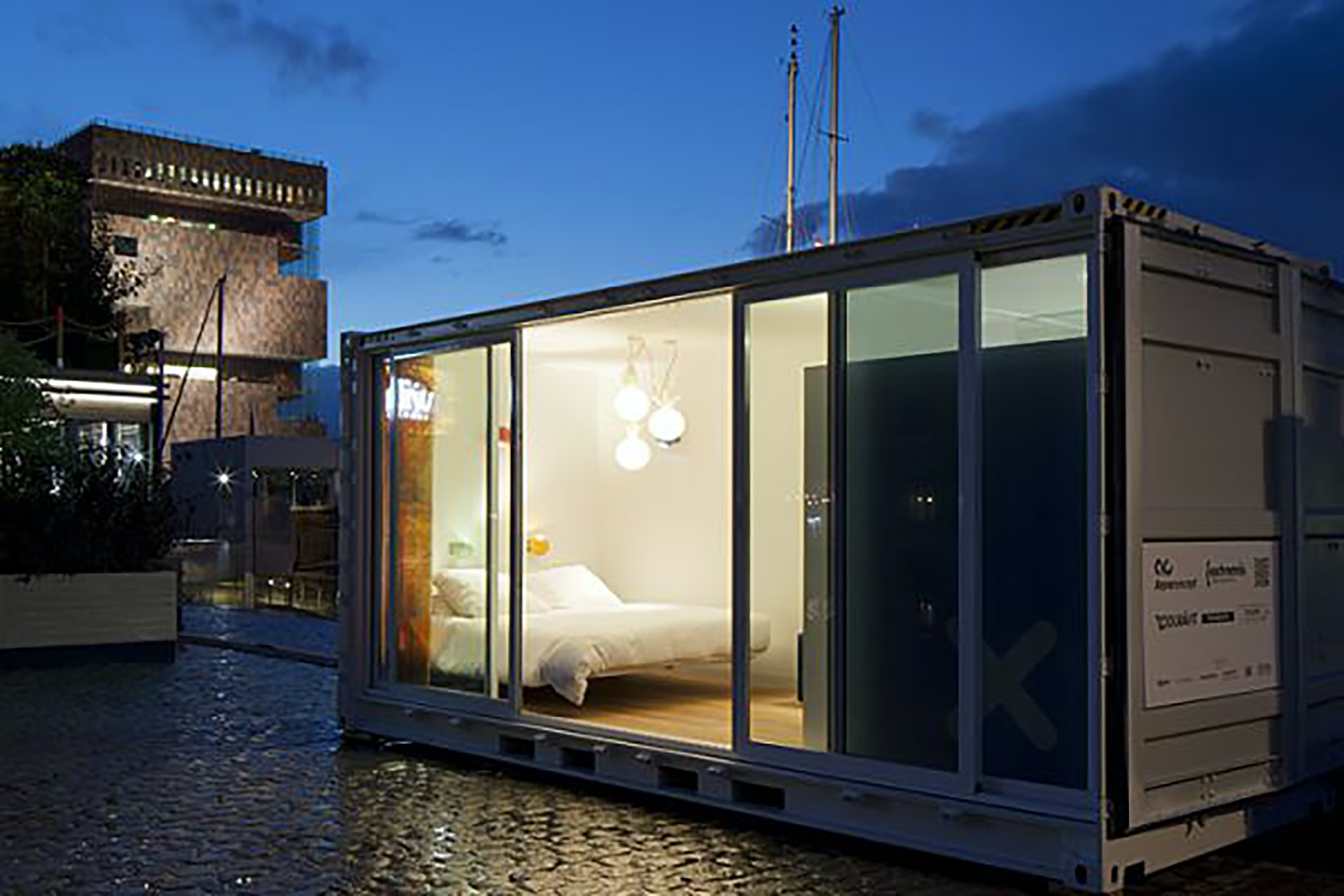 The containers at Sleeping Around make such efficient use of their space that the rooms even include ensuite bathrooms.