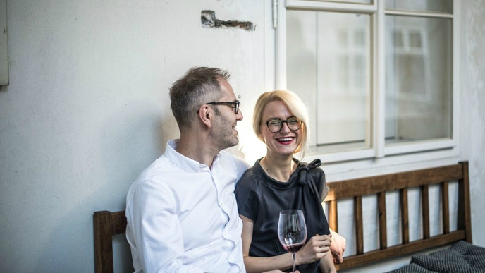 Taste of Prague founders Jan Valenta and Zuzi Dankova, who launched the city's first food tours.