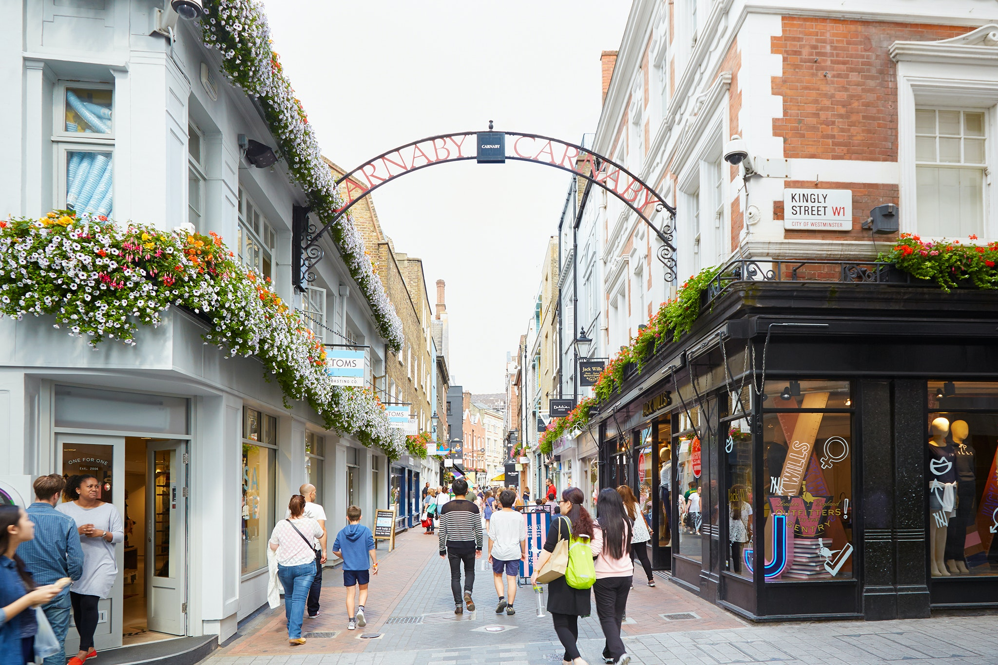 Carnaby Street should please those in search of shopping.
