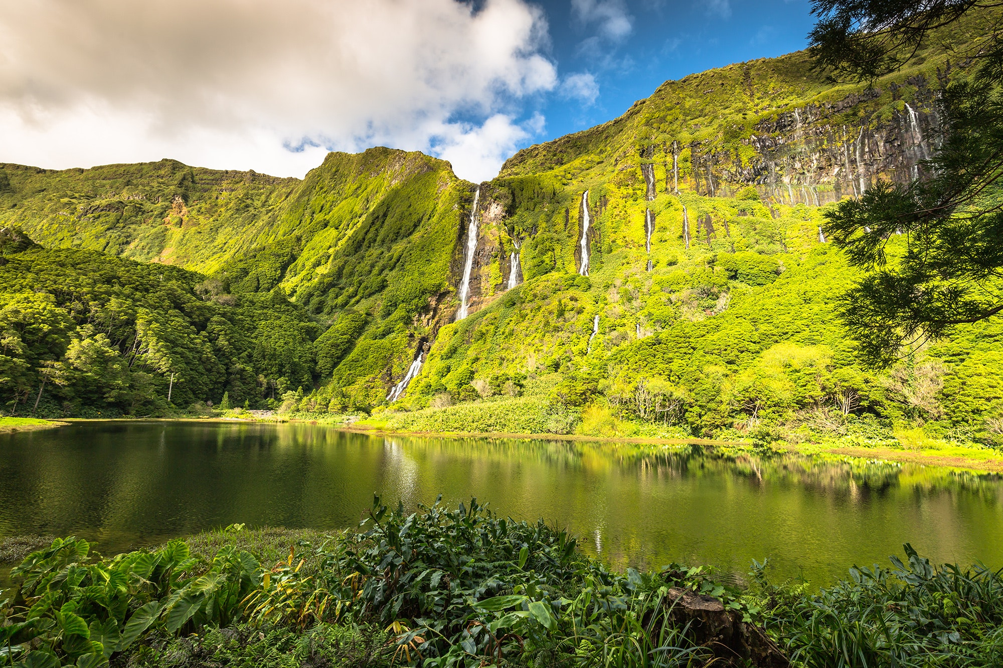 Flores Island is part of the remote Azores archipelago off the coast of Portugal.