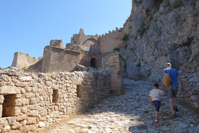 The ruins of Acrocorinth in Greece can be even more impressive through the eyes of a child.