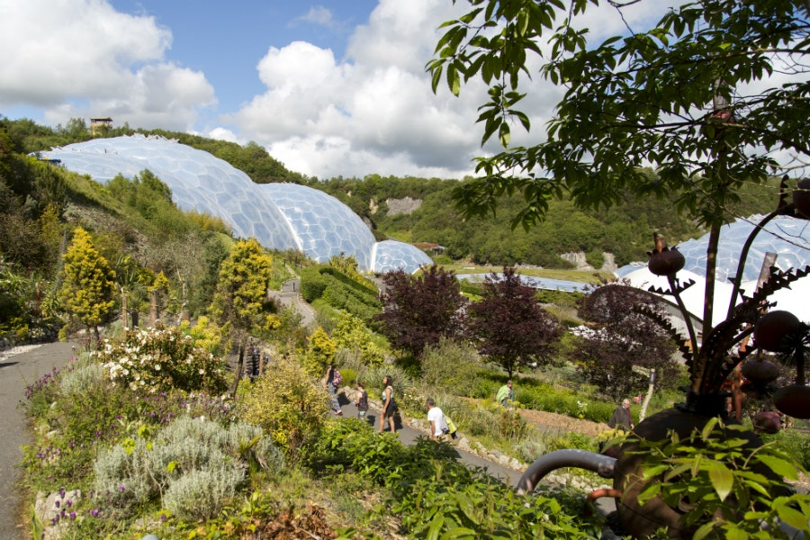 The biomes at Eden Project afford a model for sustainable ecological development.