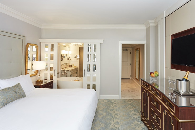 Bathe in private or share the view at this room in Hotel Bennett.