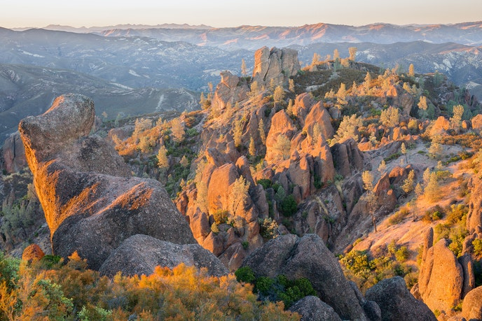 Hikers and climbers flock to the rocky Pinnacles National Park.
