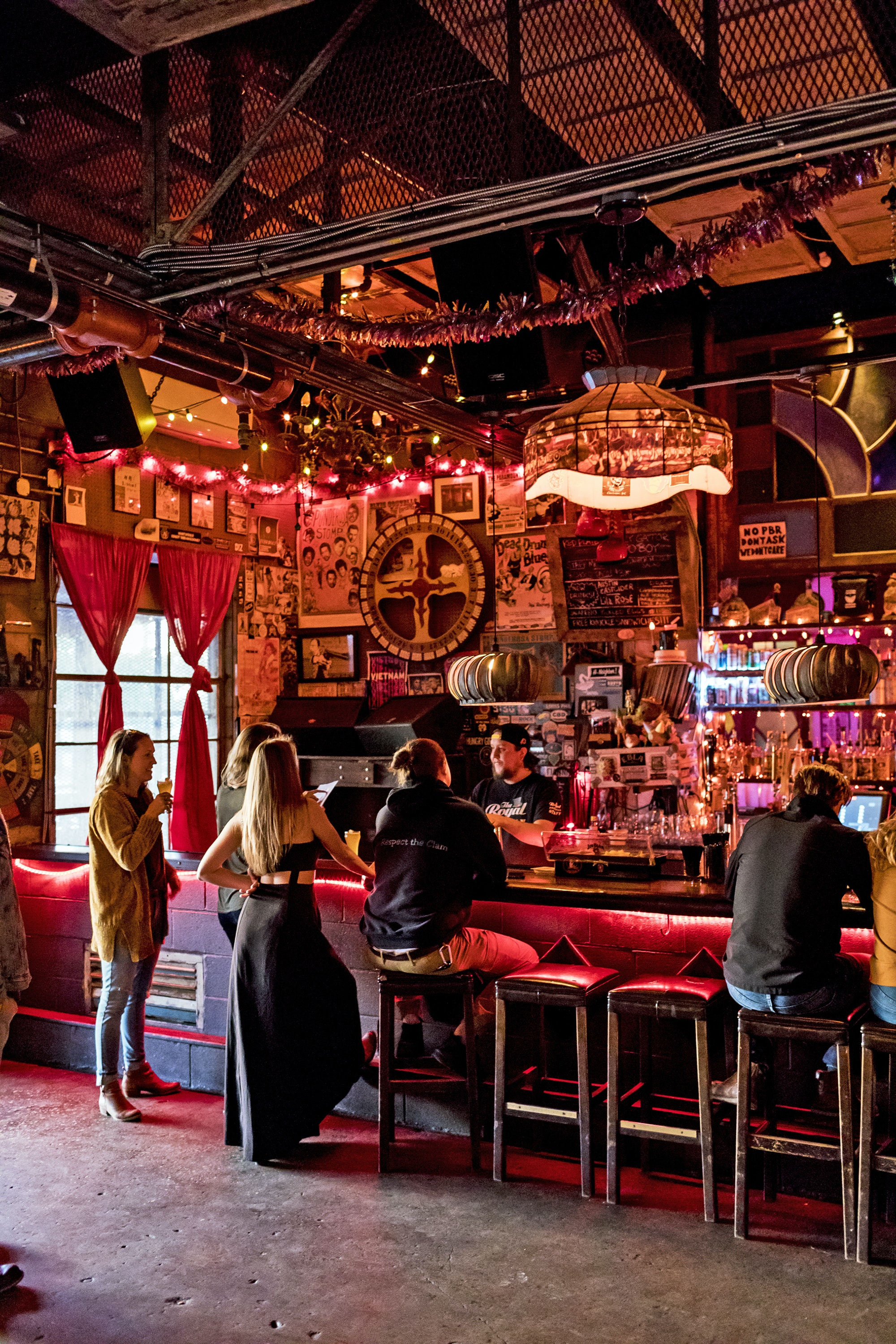 The Royal American's edgy design makes it an intriguing venue for local indie and touring musicians.