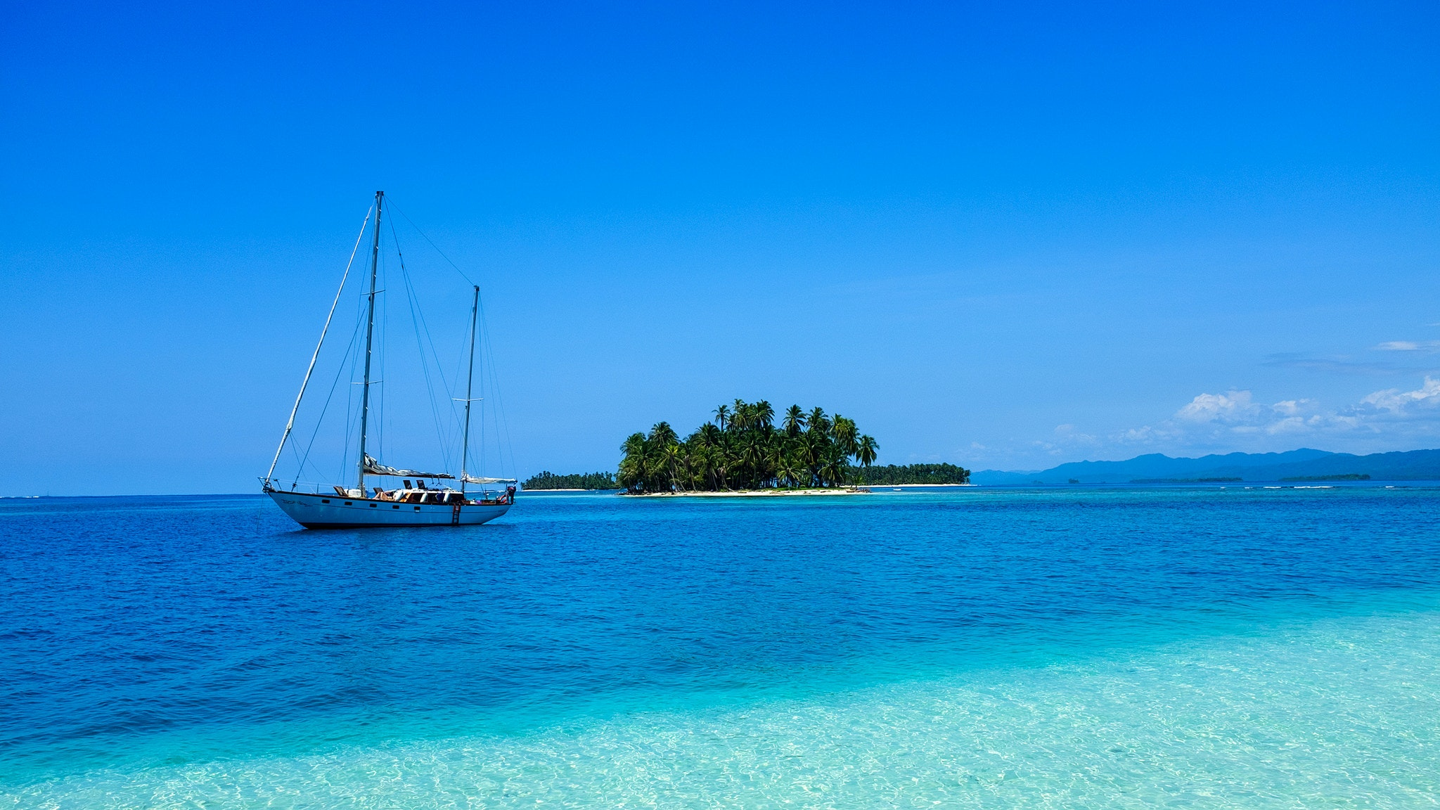 The San Blas Islands are on the Panama side of the Caribbean.