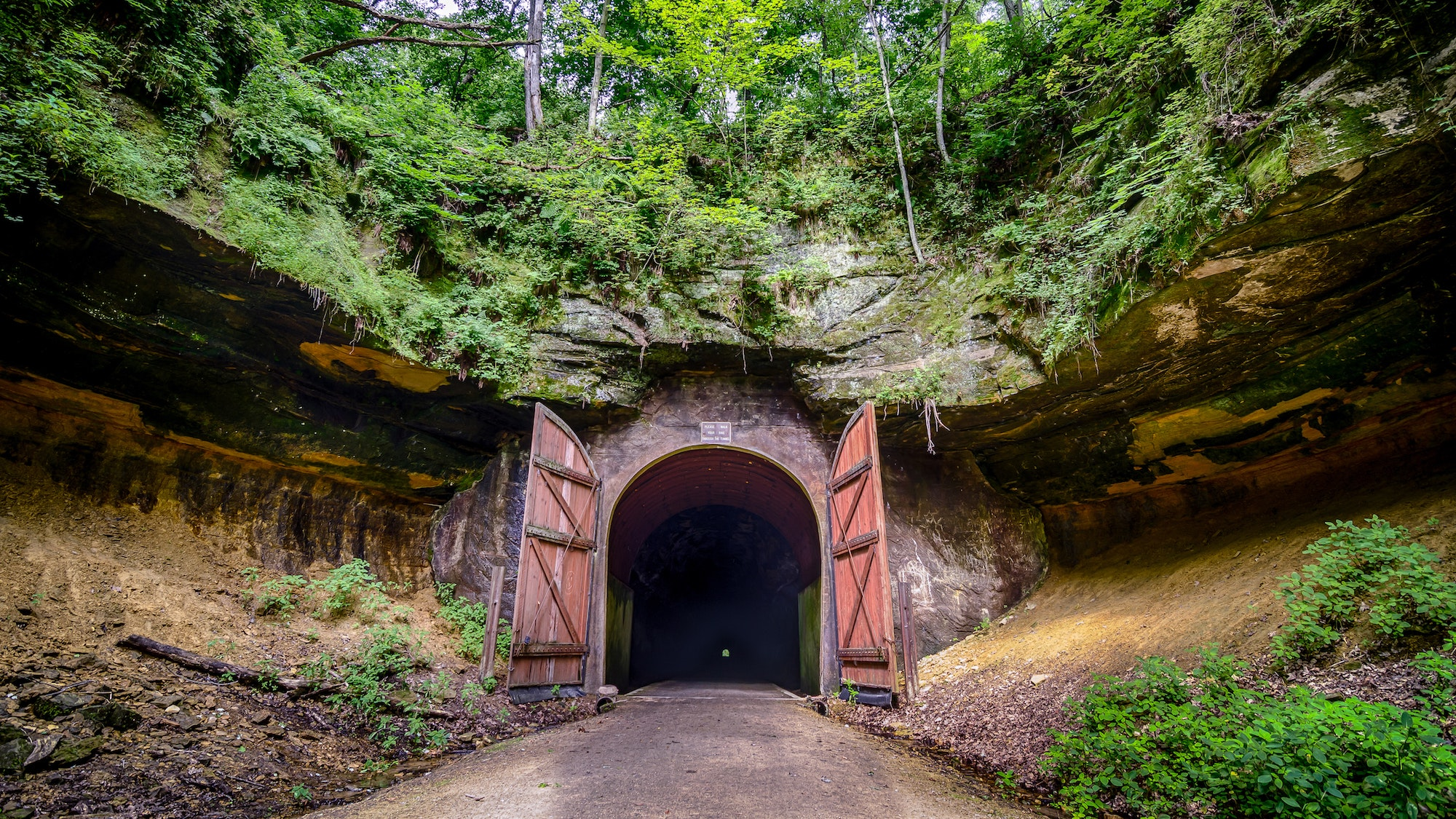 One of the popular tunnels along the Elroy-Sparta State Trail