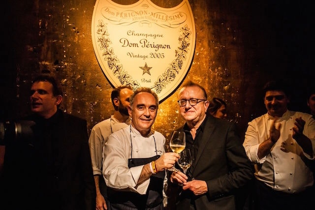 "Ferran Adria and Richard Geoffroy at ""This Is Not a Dinner"""