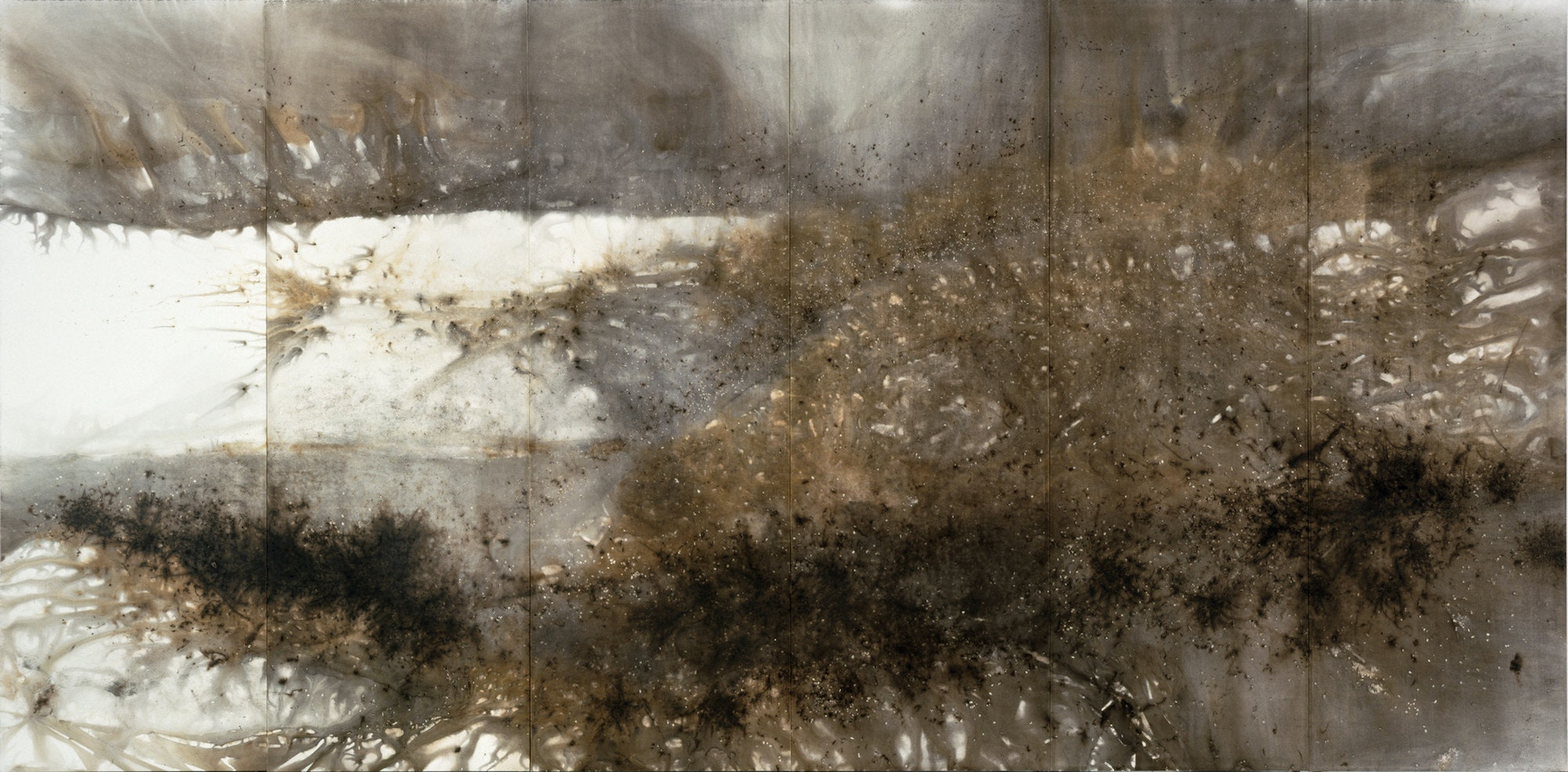 """Cai Guo-Qiang's """"Mountain Range"""" is made with gunpowder on paper."""