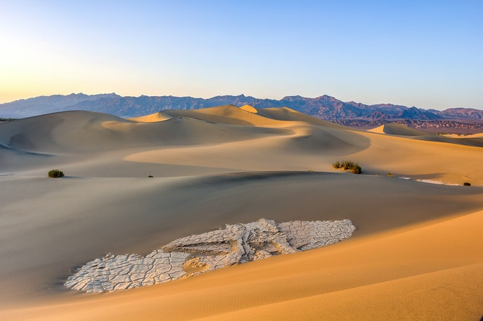 The Mesquite Flat Sand Dunes are among the best-known dunes in Death Valley National Park.