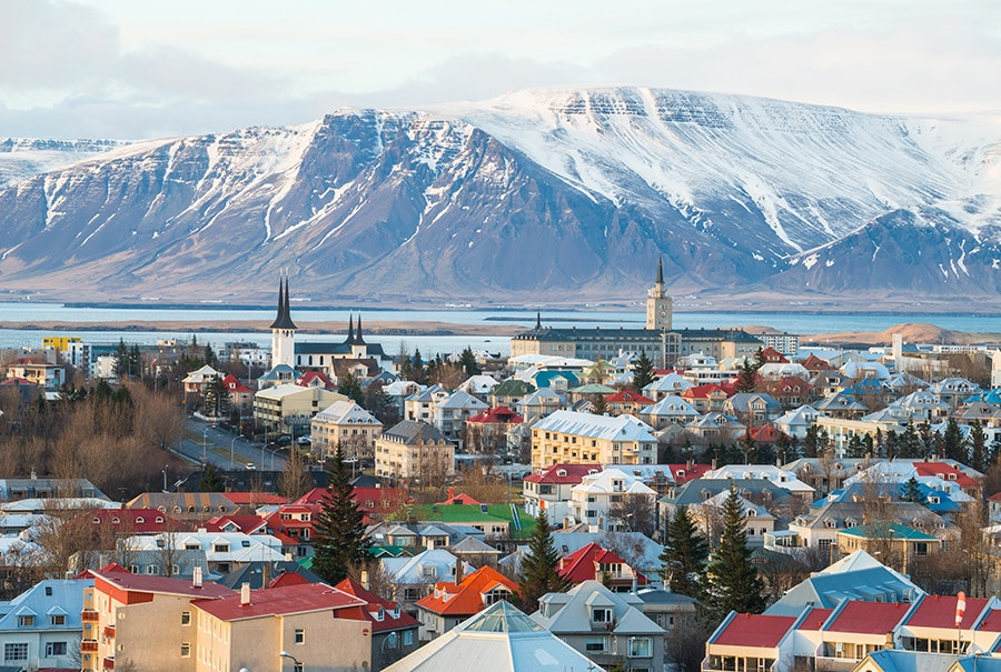 Reykjavík is a base for tours that take visitors glacier hiking, freediving, and whale-watching.