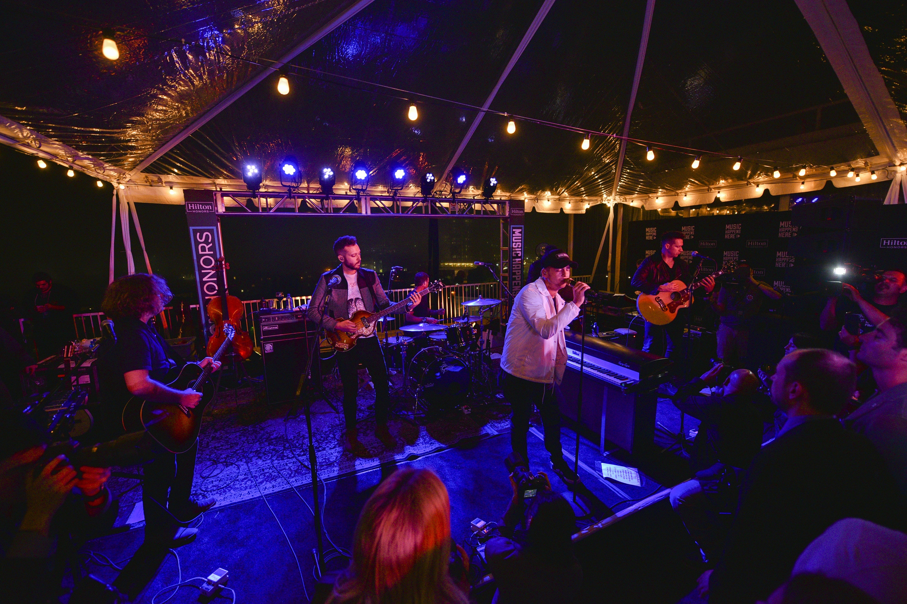 "Hilton launched its ""Music Happens Here"" program last year, giving Hilton Honors members access to concert experiences such as this performance by OneRepublic."
