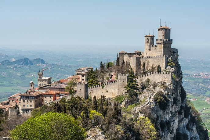 San Marino's Guaita Fortress is perhaps the most famous attraction in this tiny country.