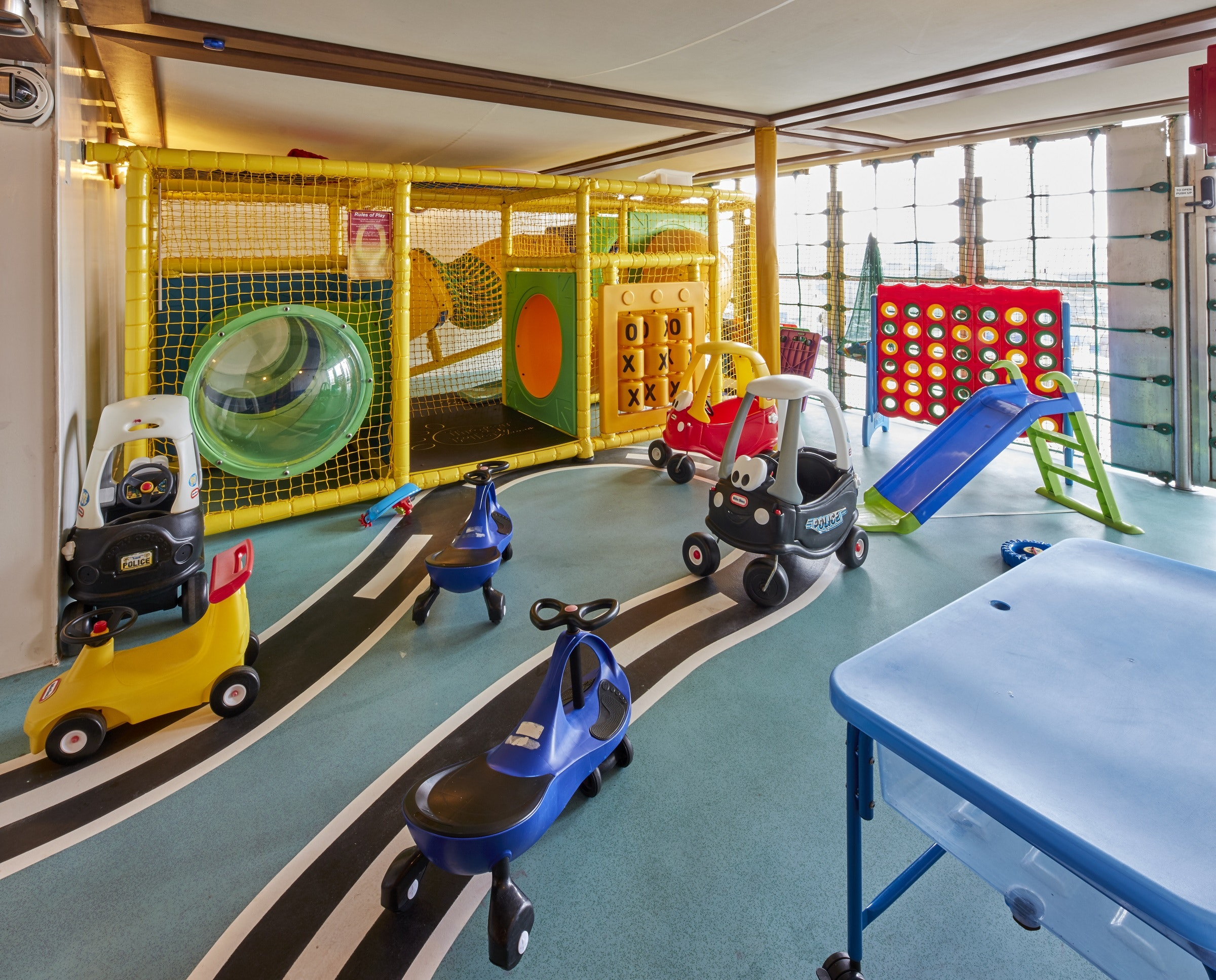 The Kids Zone on Cunard's Queen Elizabeth is essentially a floating playground.