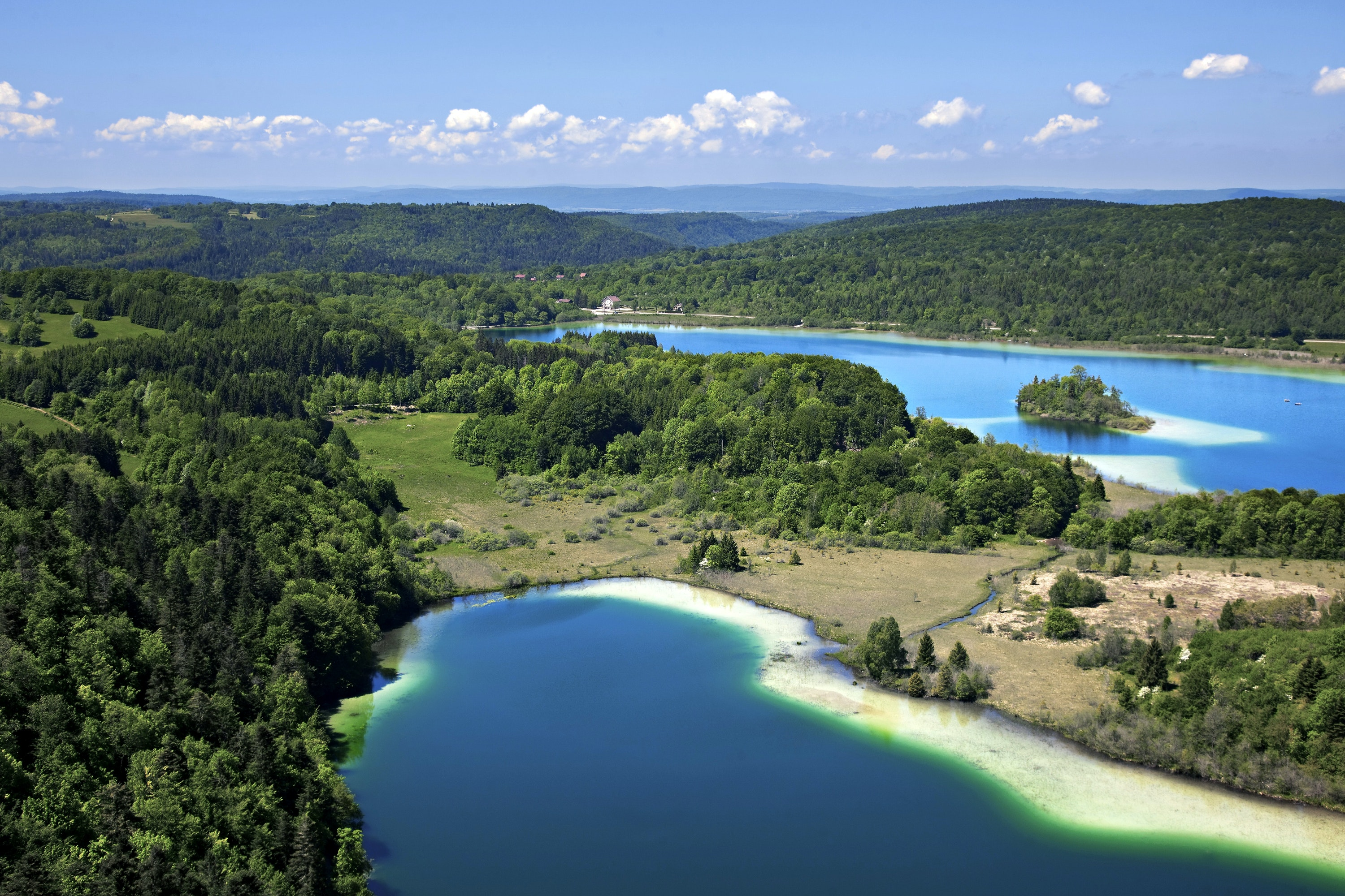 The Jura is dotted with scenic lakes like the Lacs de Maclu.