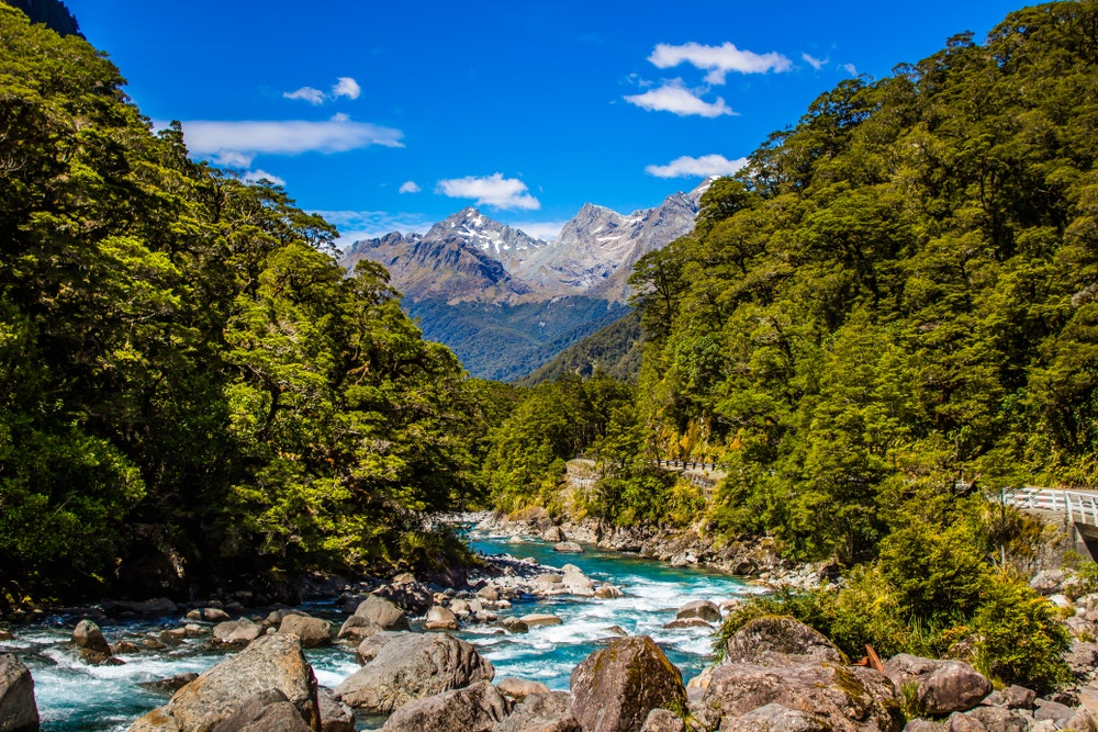 The 33-mile Milford Track is one of New Zealand's 10 Great Walks.